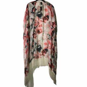 Fringe Floral Kimono